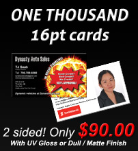1000 14pt business cards, great deal!