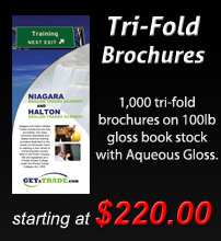 Tri Fold Brochures Design and Print
